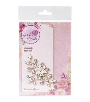 Wild Rose Studio Poinsettia Corner Specialty Die
