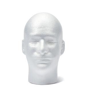 Male Foam Head- White