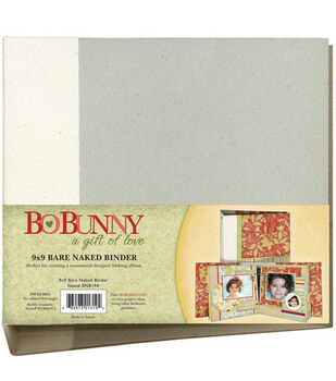 Bo Bunny Bare Naked 9''x9'' 3-Ring Binder