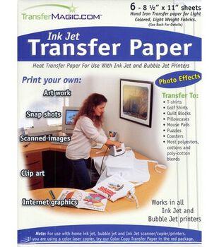 Photo Effects Ink Jet Transfer Paper-8-1/2''x11'' 6/Pkg