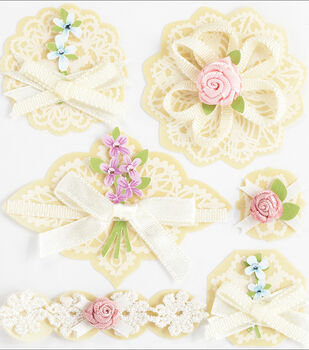 Jolee's Boutique Around The World Stickers-Layered Doilies With Bows