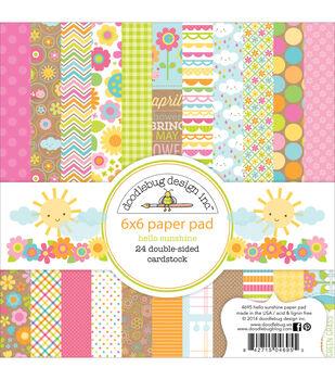 "Doodlebug Paper Pad 6""X6"" 24/Pkg-Hello Sunshine"