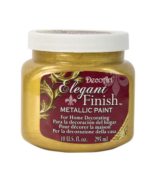 Elegant Finish™ Metallic Paint 10oz, Splendid Gold