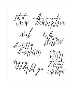 "Tim Holtz Cling Rubber Stamp Set 7""X8.5""-Handwritten Holidays #2"