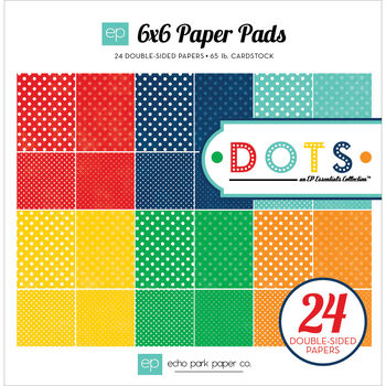 Echo Park Paper Essentials Dots Primary Double Sided Cardstock Paper