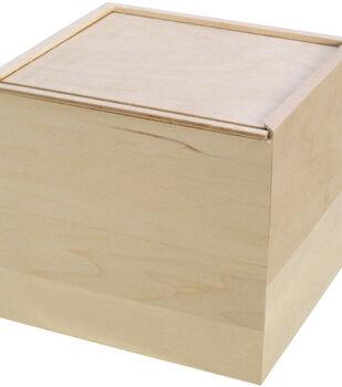 Walnut Hollow Basswood Card Keeper Slide Lid Box-A2