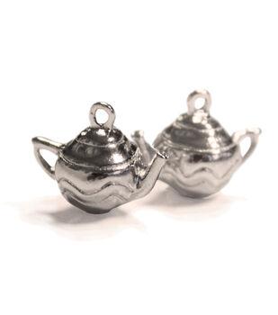 FabScraps Silver Teapots Embellishments