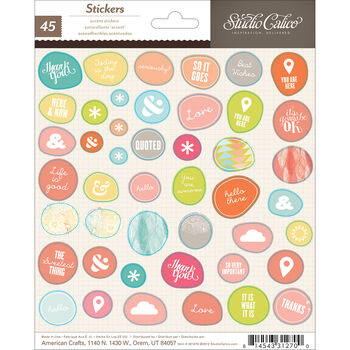 Studio Calico Sundrifter Cardstock Stickers Accent