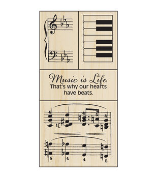 """Stampendous Mounted Rubber Stamp 2.5""""X5.75""""-Music Set"""