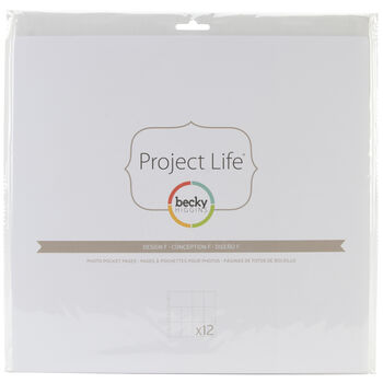 American Crafts Project Life Photo Pocket Pages Design F