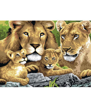 15-1/4''x11-1/4'' Junior Paint By Number Kit-Pride Of Lions