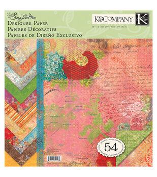K & Company 12''x12'' Designer Paper Pad-Que Sera Sera