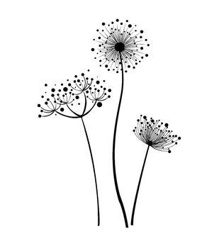 IndigoBlu Cling Mounted Stamp Stylised Flowers