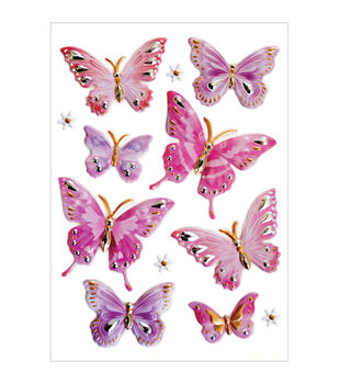Forever In Time Elegance Butterfly Stickers Sheet
