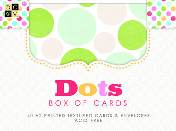 DCWV Box of Cards: Dots
