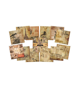 IndigoBlu Paper Stack Belle Epoque Cardstock 12''x12''