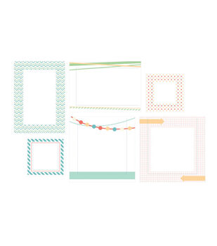 Pic Pockets Die-Cut Cardstock embellishments 6/Pkg-Too Cool
