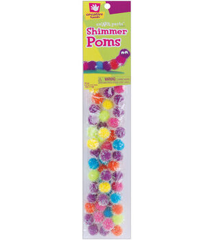 Fibrecraft 1/2'' Shimmer Pom Poms-60PK/Pastel
