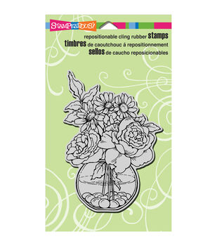 Stampendous Cling Rubber Stamp Bowl Bouquet