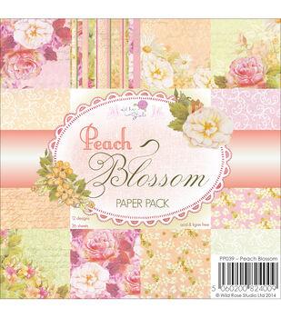 "Wild Rose Studio Ltd. Paper Pack 6""X6"" 36/Pkg-Peach Blossom"