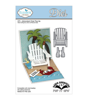 Elizabeth Craft Designs Pop It Up Adirondack Chair Pop Up Metal Dies
