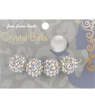 Crystal Ball Bead Cluster 16mm 4/Pkg-Style 22