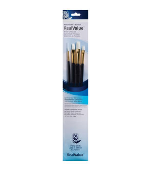 Real Value Brush Set Synthetic White Taklon  15-1/2x2-3/4 inch