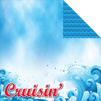 Reminisce Signature Series Cruise Double-Sided Cardstock 12''x12''