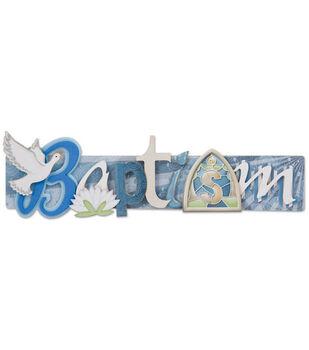 Karen Foster Stacked Statement 3-D Title Sticker-Baptism
