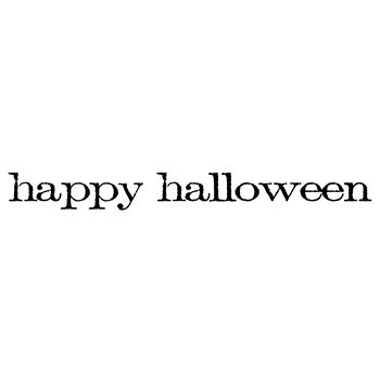 Stampers Anonymous Red Rubber Stamp Happy Halloween