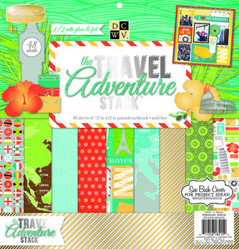 Die Cuts With A View Premium Cardstock Stack World Traveler