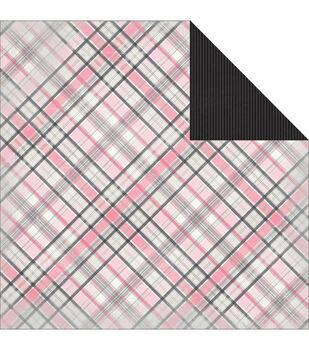 "Classique Pretty Double-Sided Cardstock 12""X12""-Tartan"