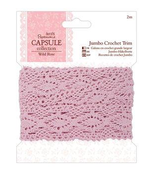 Docrafts Papermania capsule Wild Rose Jumbo Crochet Trim