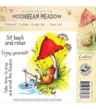 Crafter's Companion Moonbeam Meadow Everyday Time Out EZMount Stamp Set