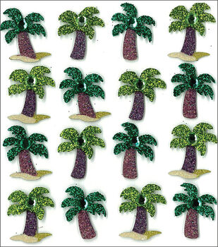 Jolee's Mini Repeats Stickers-Palm Trees