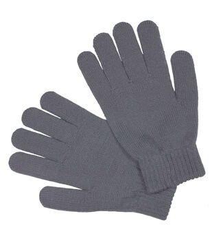 Laliberi Winter Knit Heavyweight Gloves In Light Grey