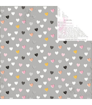 Pink Paislee Bella Rouge Heartfelt Double-Sided Cardstock