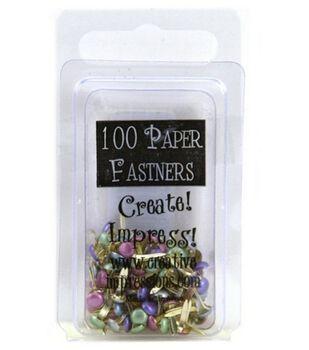 Mini Painted Metal Paper Fasteners