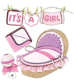 Jolee's Boutique Dimensional Embellishments-Clothesline Girl