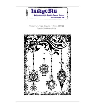 IndigoBlu Connors Crown Jewels Cling Mounted Stamp