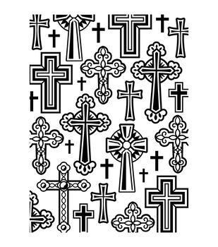 Darice Crosses Embossing Folder