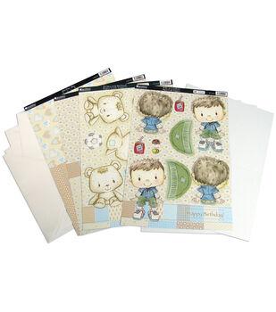Kanban Patchwork Pals Luxury Card Making Kit 13 Pc-Billy Blk/Beige