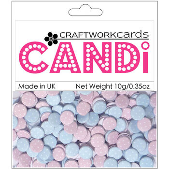 Craftwork Cards Candi Dot Printed Embellishments Sugar Frosting