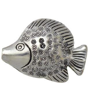Silver embellishments 10/Pkg-Fish #2