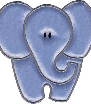 "Wrights Especially Baby Iron-On Appliques-gray Elephant 4""X4"" 1/Pkg"