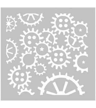 FabScraps Plastic Cogs & Wheels Stencil