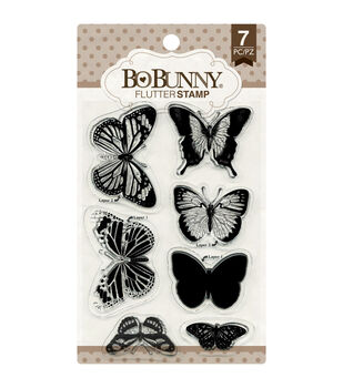 Bo Bunny Flutter Clear Stamps