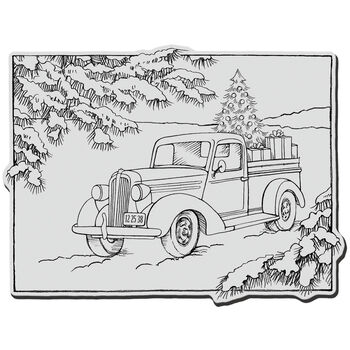 Truck Gift-cling Rubber Stamp