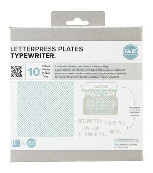 Lifestyle Letterpress Plates-Typewriter