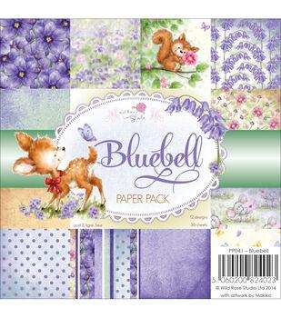"""Wild Rose Studio Ltd. Paper Pack 6""""X6"""" 36/Pkg-Bluebell"""